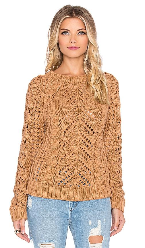 Eternal Sunshine Creations Stella Raglan Sweater Top in Camel
