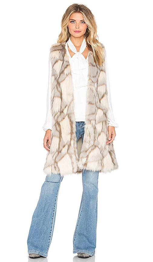 Edee Marble Faux Fur Vest