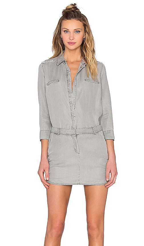Etienne Marcel Long Sleeve Dress in Gray