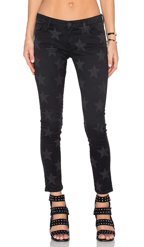 Etienne Marcel Star Skinny in Black Stars Faded