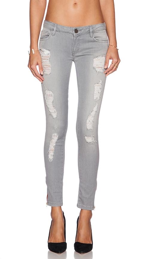Etienne Marcel Skinny Ripped Jean in Grey