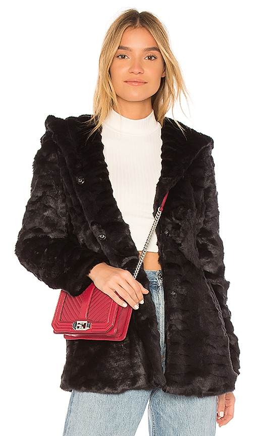 Etienne Marcel Cara Faux Fur Jacket in Black
