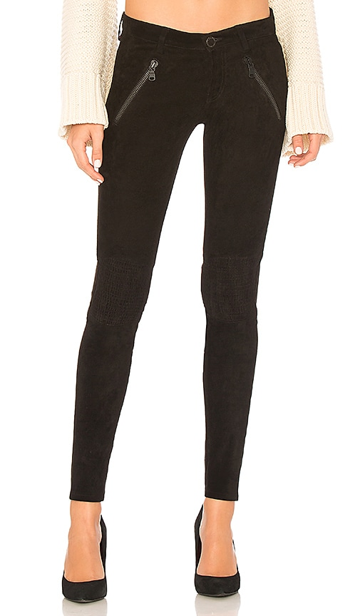 Etienne Marcel Lexi Suede High Waisted Pants in Black
