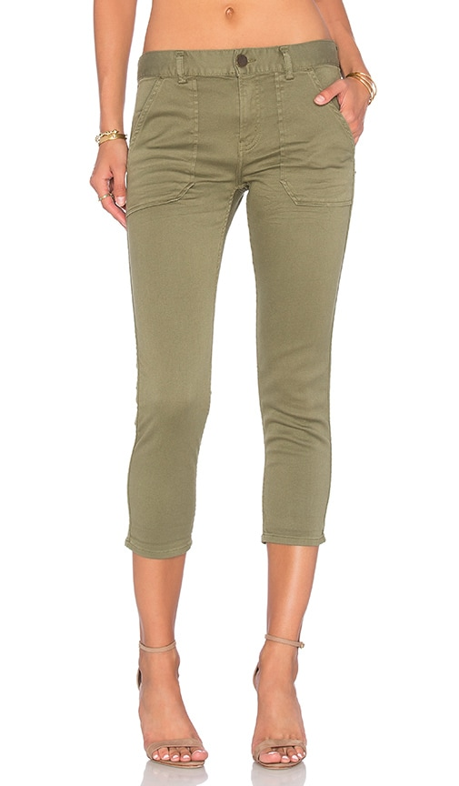 Etienne Marcel Cropped Boyfriend Pants in Green