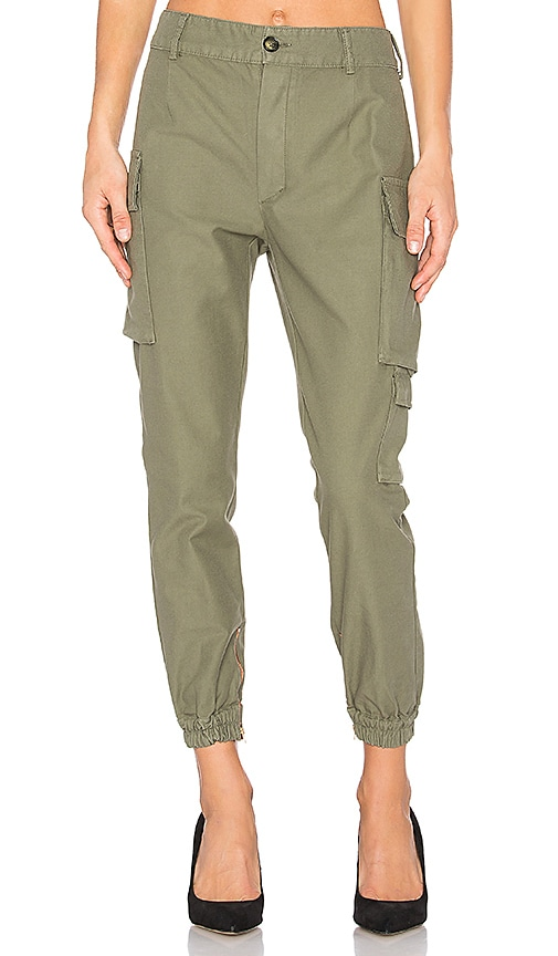 Etienne Marcel Military Cargo Pant in Olive
