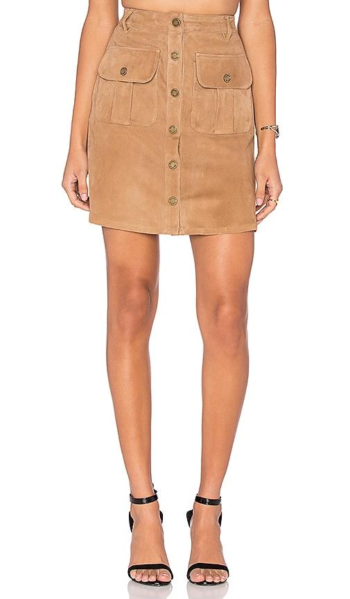 Etienne Marcel Button Up Skirt in Daim Beige