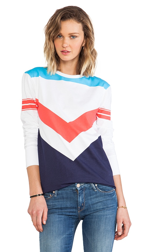 Chevron Colour Block Long T-Shirt