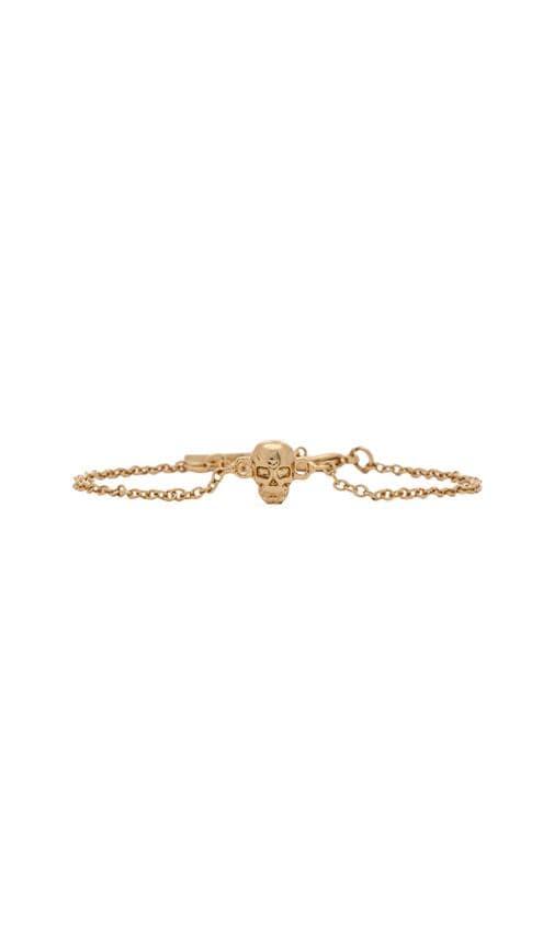 Dainty Skull Bracelet In Gold