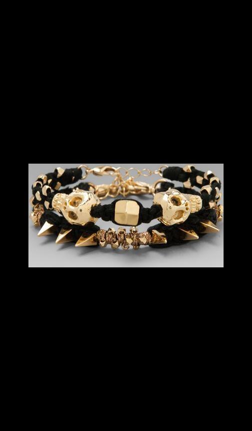 Gold Skull Wrap Bracelet