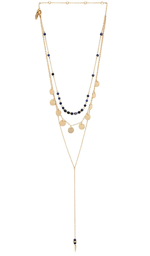 Disc Layered Lariat Necklace