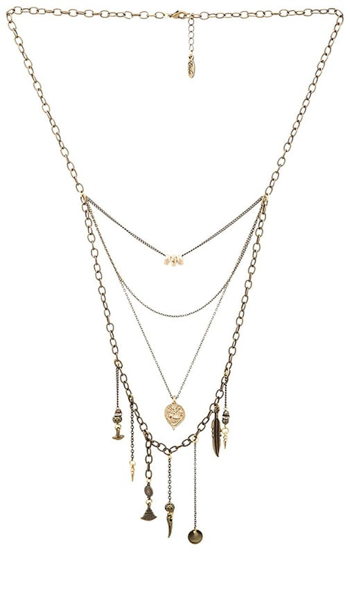 Multi Layered Charm Necklace