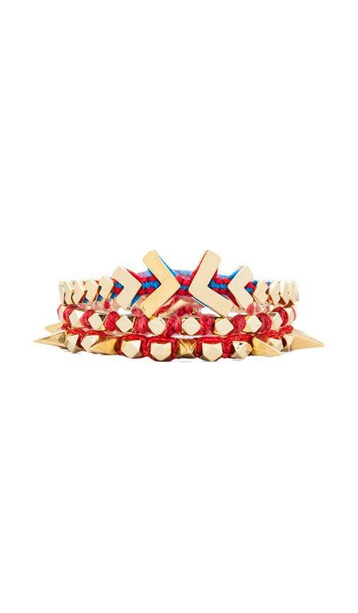 Gold Chevron Wrap Bracelet