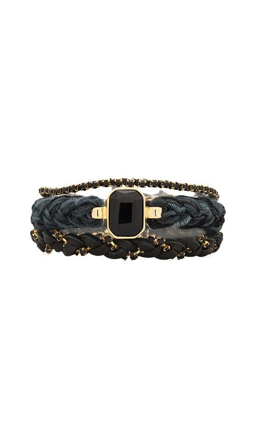 Black Diamonds Wrap Bracelet