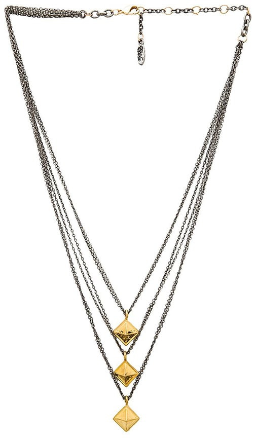Multi Layered Pyramid Necklace