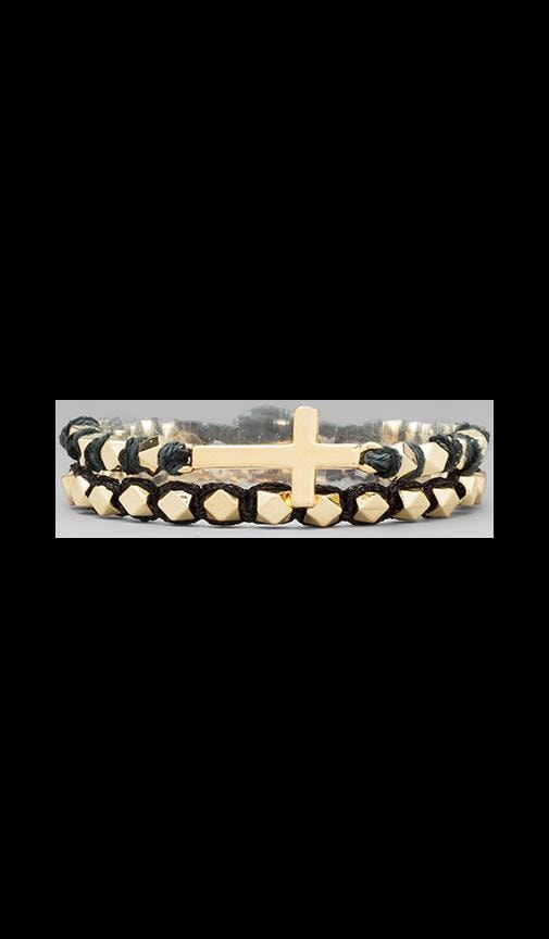 Gold Cross Stud Bracelet
