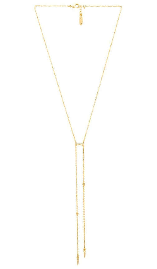 Ettika Pave Bar Necklace in Metallic Gold