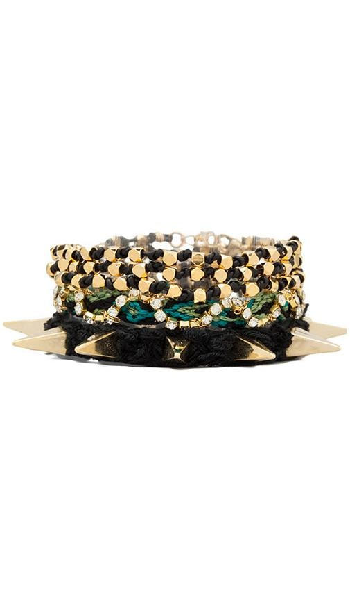 Gold Spiked Wrap Bracelet
