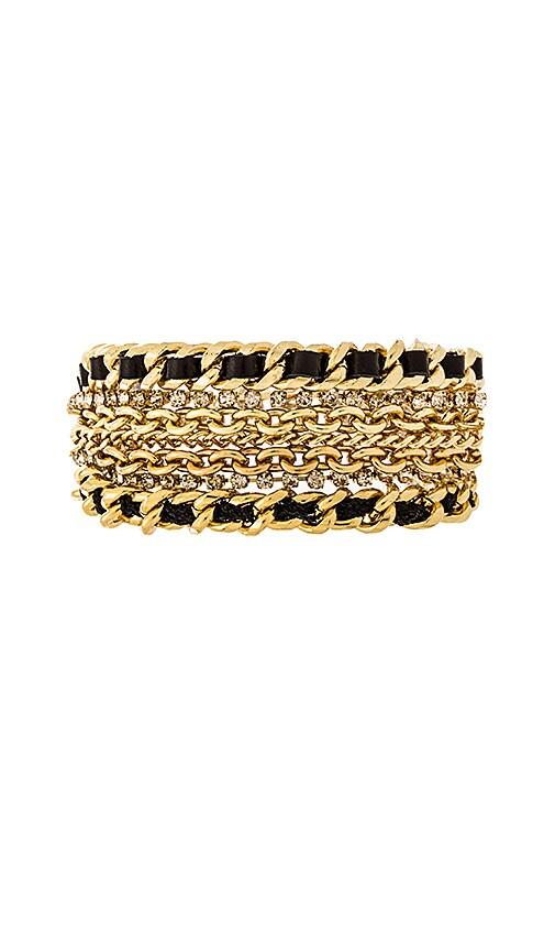 Ettika Multi Chain Bracelet in Gold & Black