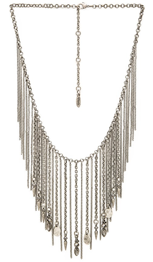 Ettika Fringe Collar Necklace in Silver