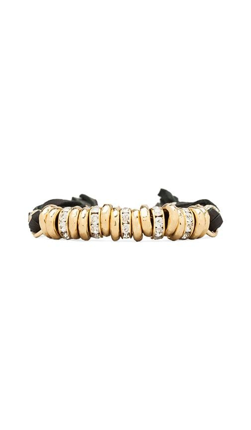 Gold Beads Bracelet with Diamonds