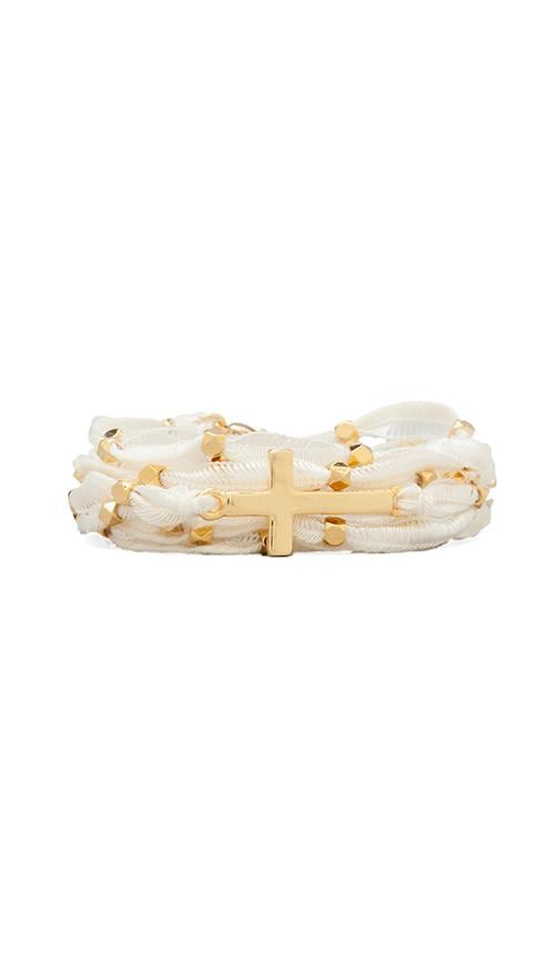 Gold Cross Wrap Bracelet