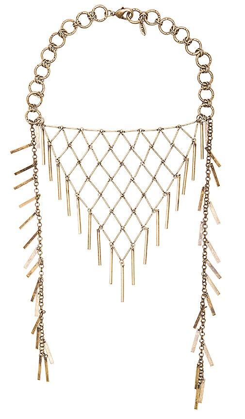 Ettika Bib Scarf Necklace in Brass