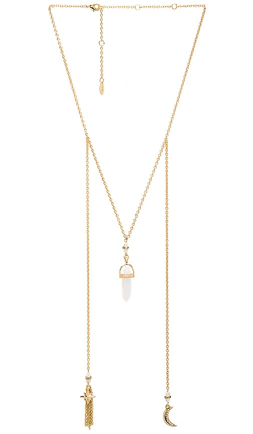 Crystal Charm Chain Necklace