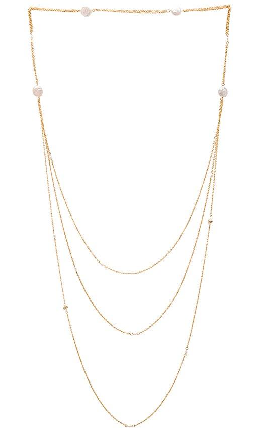 Ettika Pearl Layered Necklace in Gold