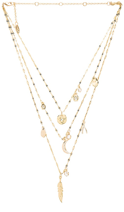 Ettika Double Layer Necklace in Metallic Gold t9xmDgZJr