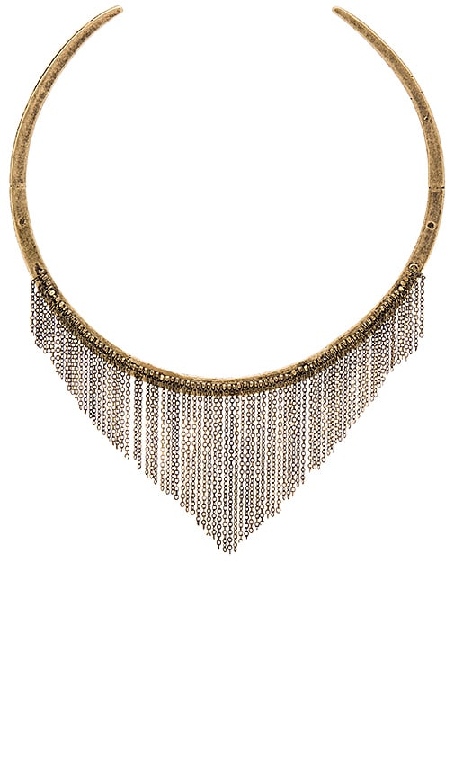 Ettika Chain Necklace in Brass