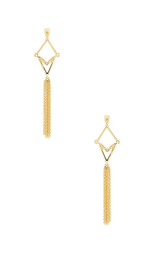 Ettika Drop Chain Earring in Gold