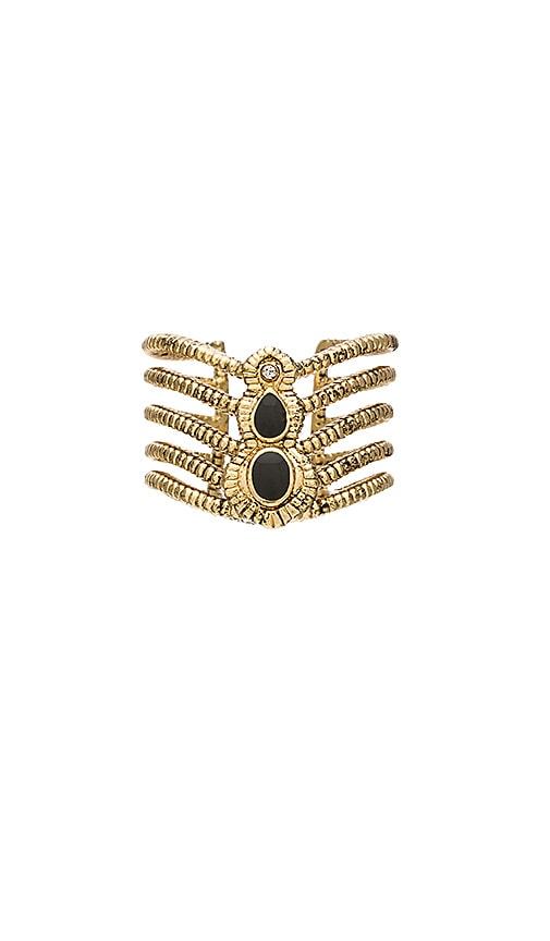 Ettika Antique Gold & Black Ring in Black & Gold