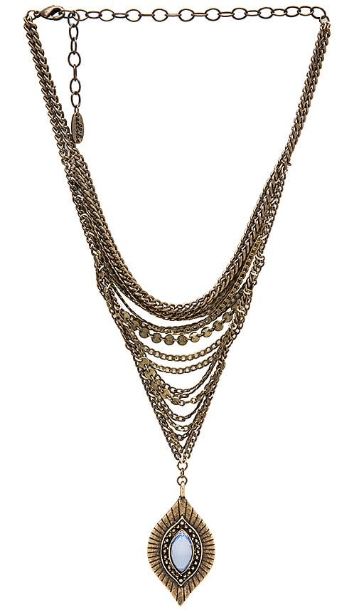 Ettika Chain Drop Necklace in Metallic Bronze