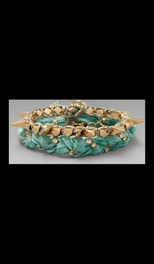 Vintage Gold Spike Bracelet