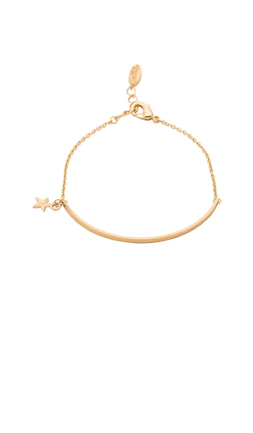 Ettika Star Charm Bracelet in Metallic Gold