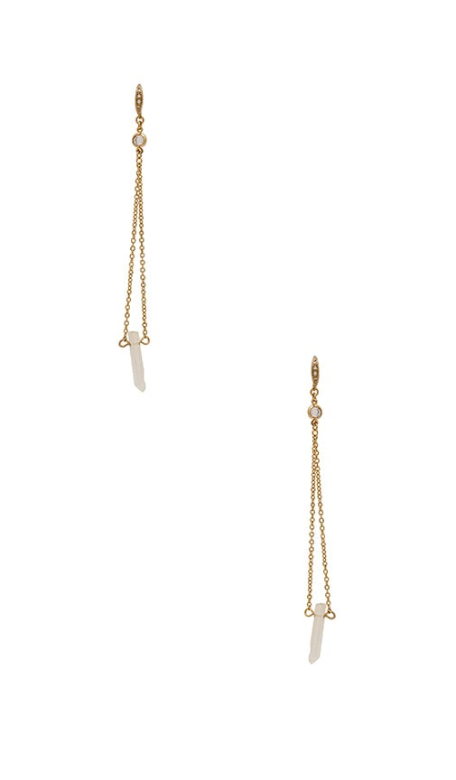 Ettika Earrings in Metallic Gold