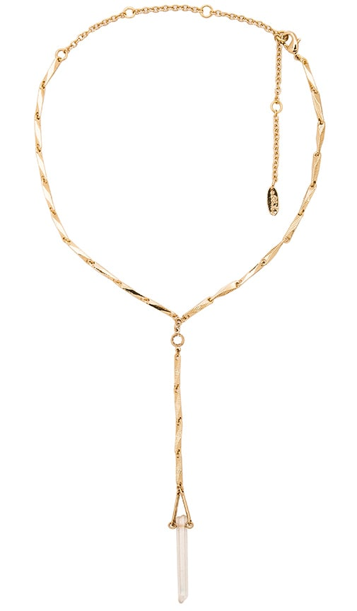Ettika Twisted Metal Necklace in Gold