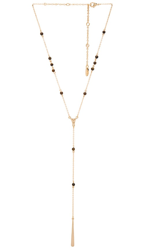 Ettika Tear Drop Necklace in Metallic Gold