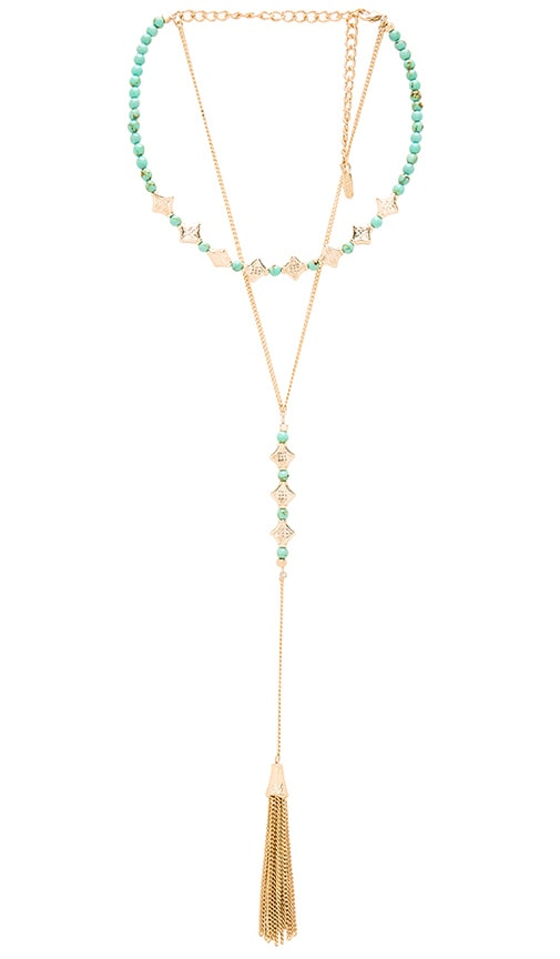Ettika Tassel Layered Necklace in Metallic Gold