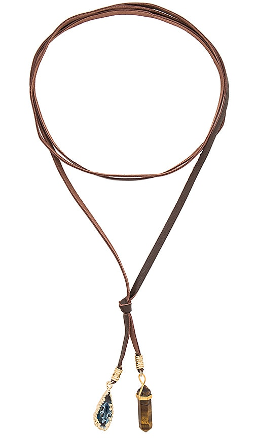 Ettika Stone Necklace in Brown