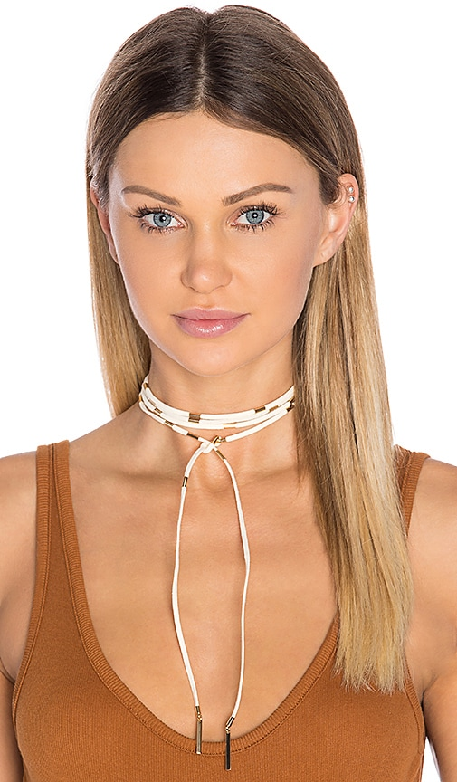 Ettika Wrap Necklace in Beige