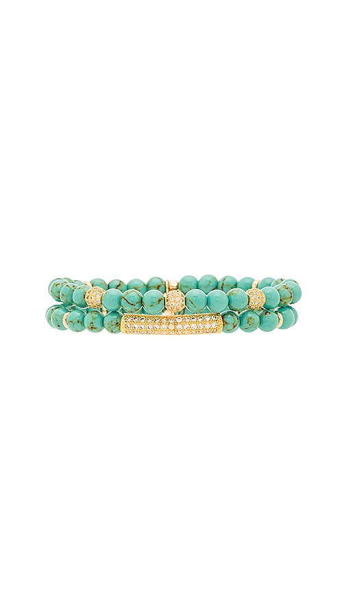 Ettika Beaded Bracelet in Turquoise