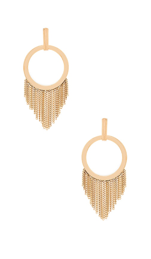 Ettika Fringe Earring in Metallic Gold