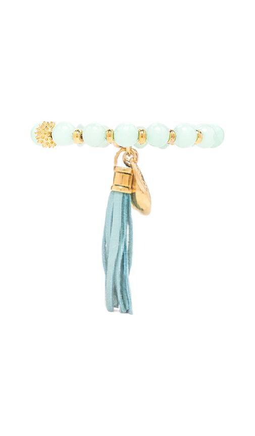 Beaded Bracelet with Seashell/Tassel