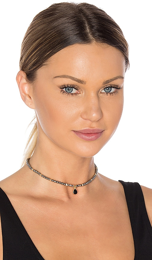 Ettika Beaded Choker in Charcoal