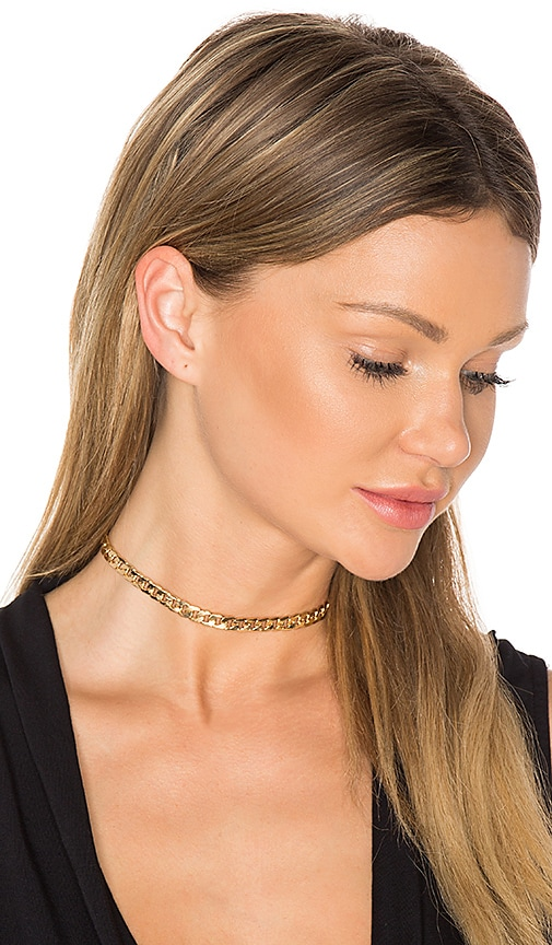 Ettika Chain Choker in Metallic Gold