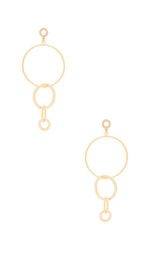 Ettika Hoop Link Earring in Metallic Gold