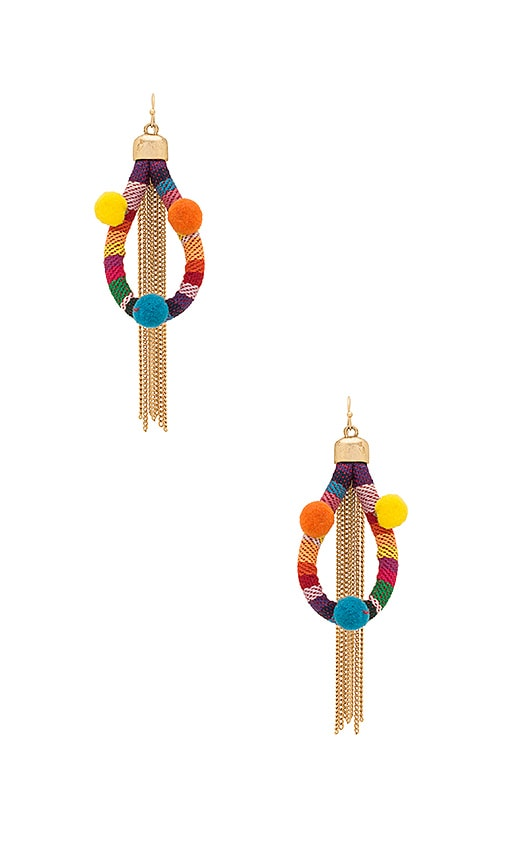 Dahl Multi Pom Pom Earrings