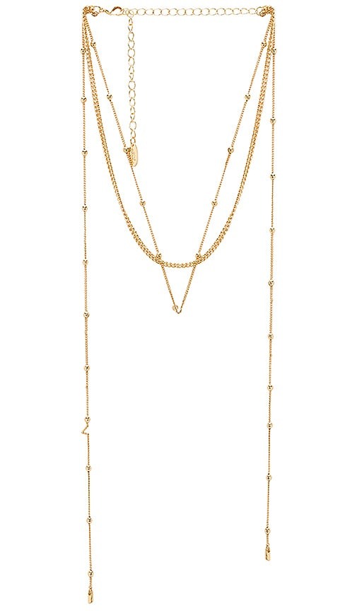 Ettika Dainty Wrap Necklace in Metallic Gold