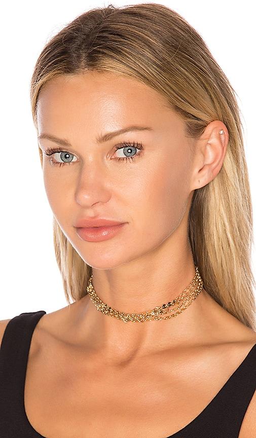 Ettika Multi Chain Choker in Metallic Gold